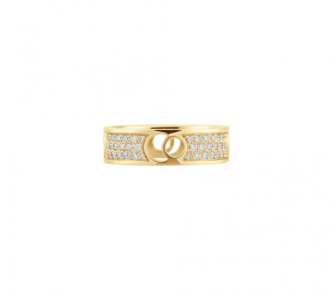 Bague Eclipse grand modèle - Or jaune 18K (7,80 g), diamants 0,70 ct - Face