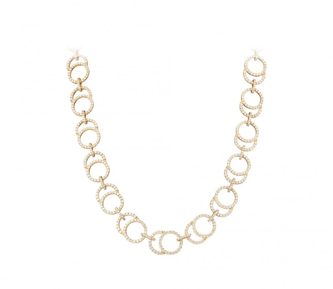 Collier Céleste Joaillerie en or jaune 18K - diamants de synthèse 5,25 cts - Courbet - P1
