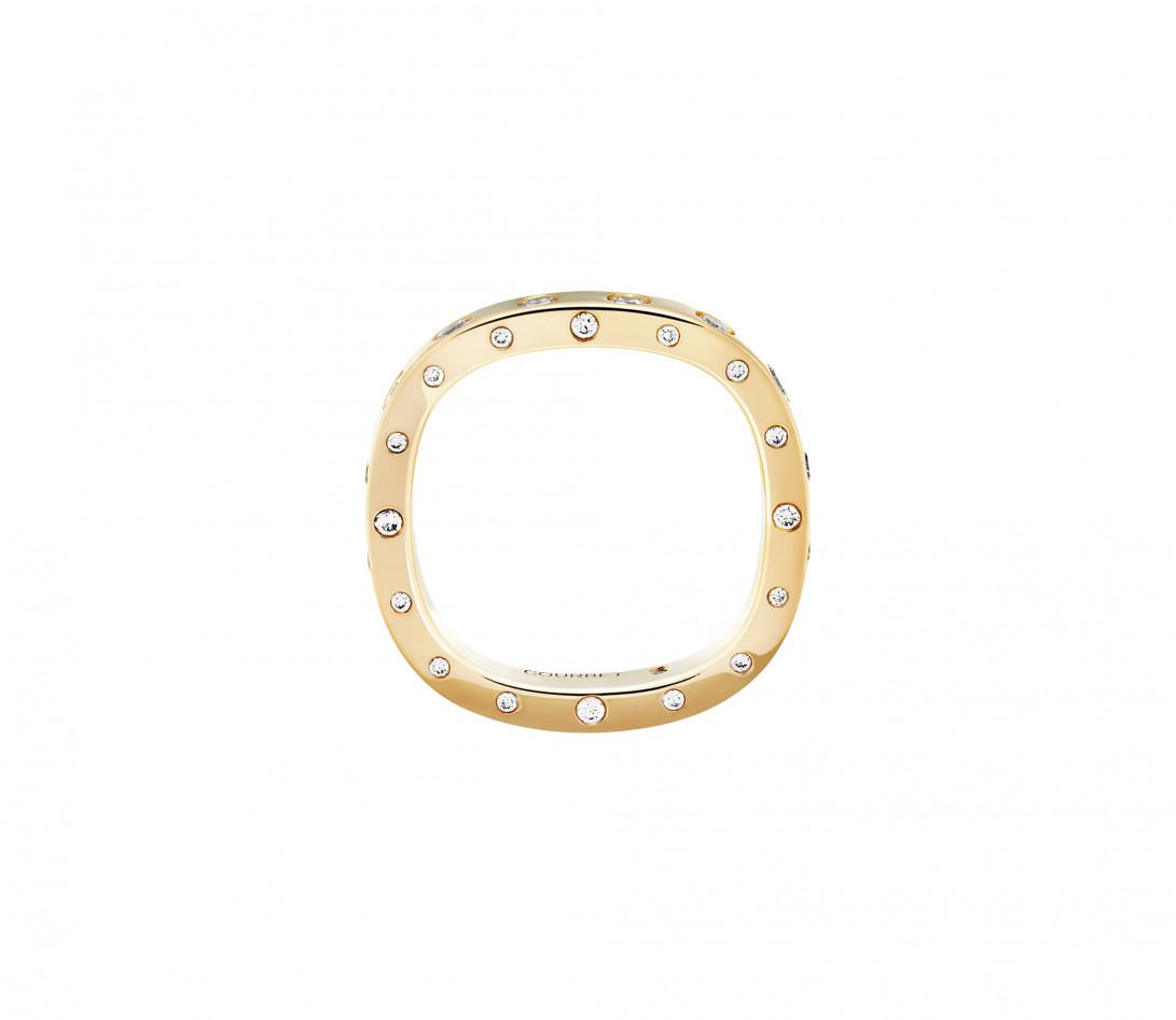 Bague Or Jaune et Diamants de synthèse 0,67 ct - Eclipse - Vue 2
