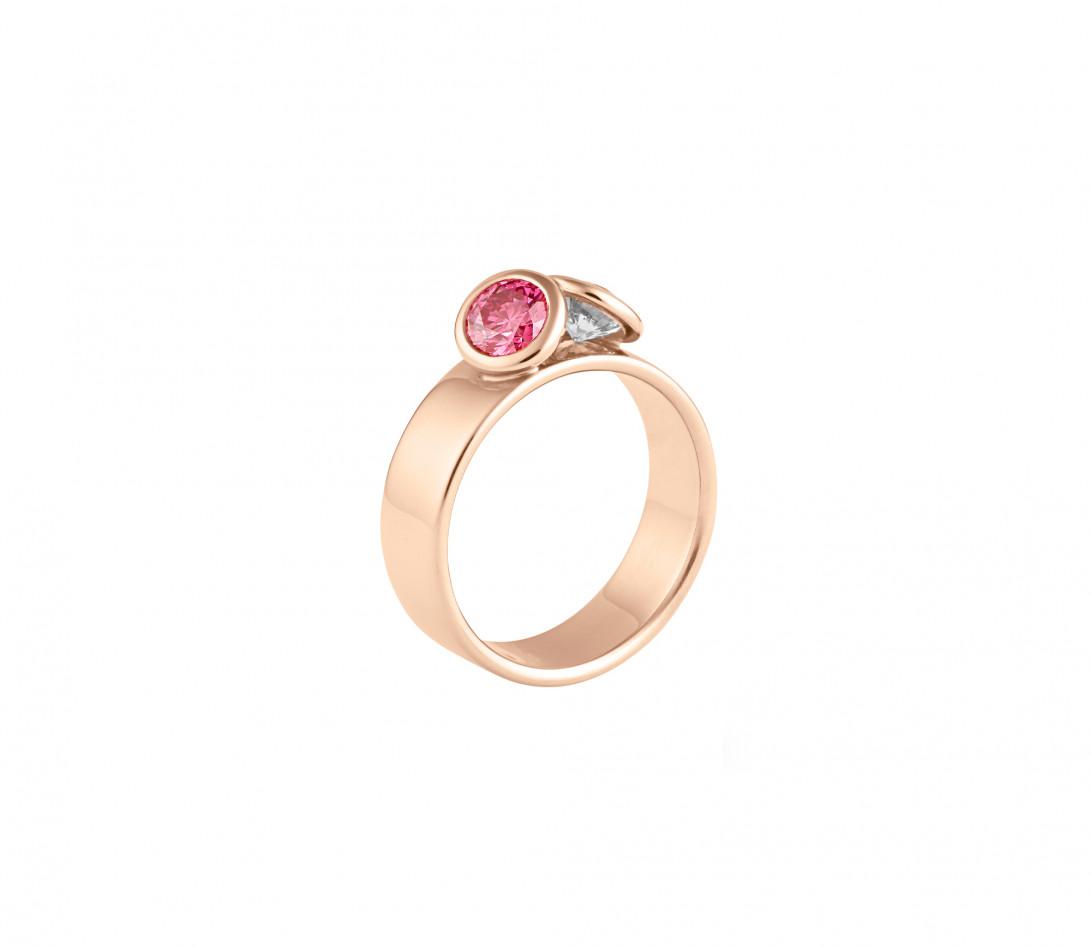 Bague 2Courbet - Or rose 18K (7,00 g),  diamant 1 carat - Vue 1