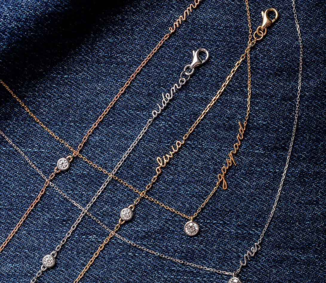 Collier ORIGINE personnalisé en or rose 18K et diamants de synthèse - Courbet - Vue 4