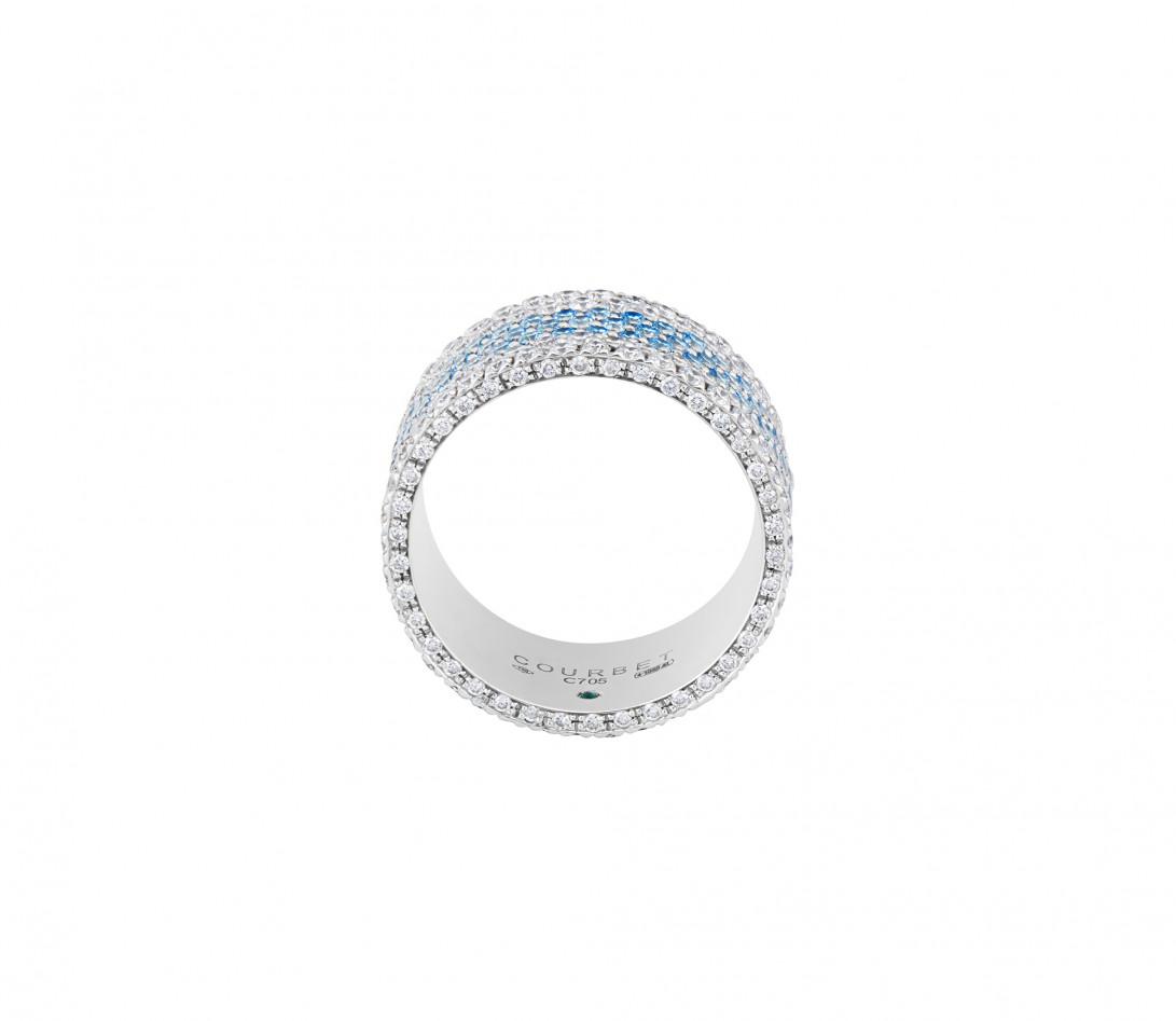 Bague Or Blanc et Diamants de synthèse 4,25 cts - Horizon - Courbet - Vue 2
