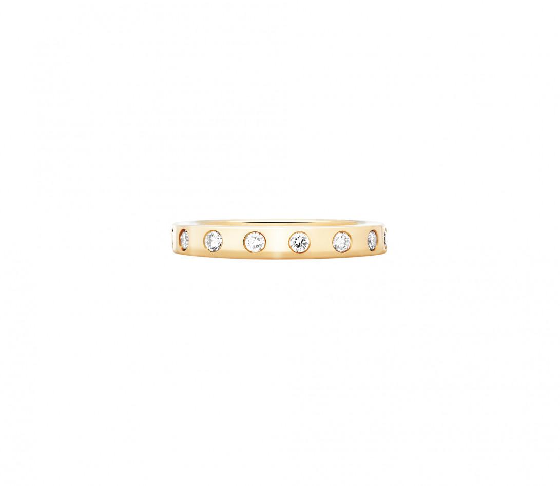 Bague Or Jaune et Diamants de synthèse 0,67 ct - Eclipse - Vue 1