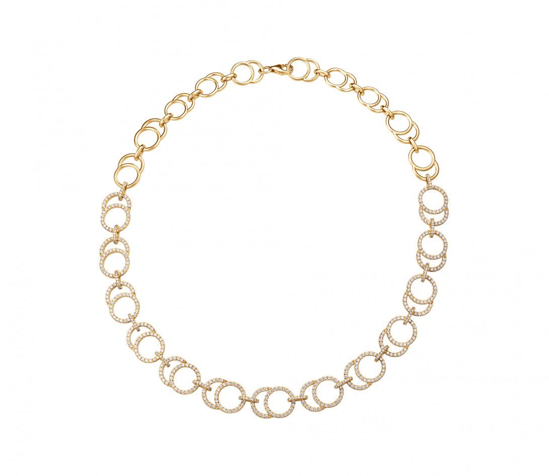 Collier Céleste Joaillerie en or jaune 18K - diamants de synthèse 5,25 cts - Courbet - P2