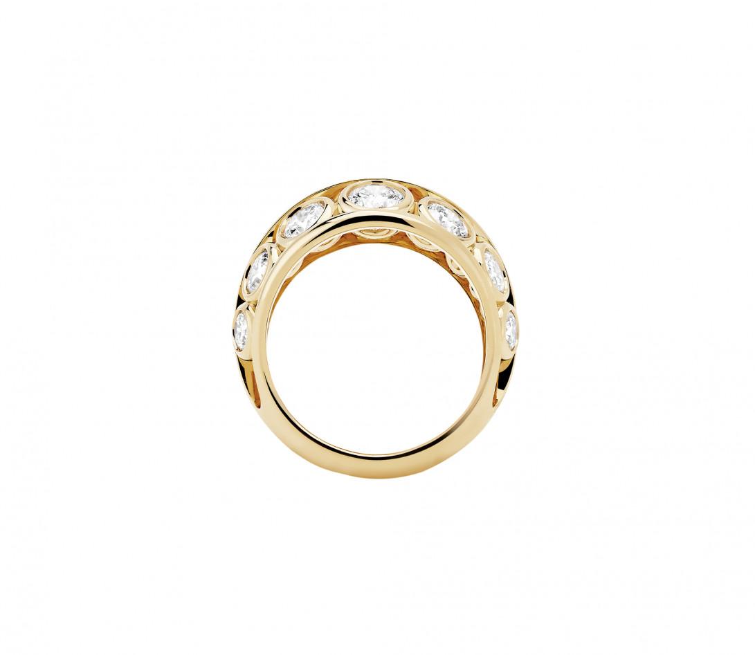 Bague ORIGINE Couture en or jaune recyclé 18K et diamants de synthèse - Vue 3