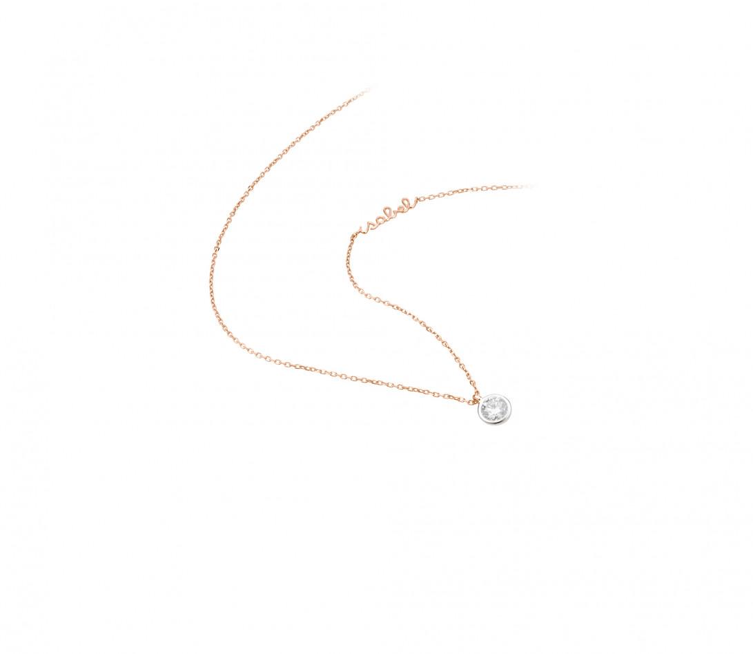 Collier ORIGINE personnalisé en or rose 18K et diamants de synthèse - Courbet - Vue 2