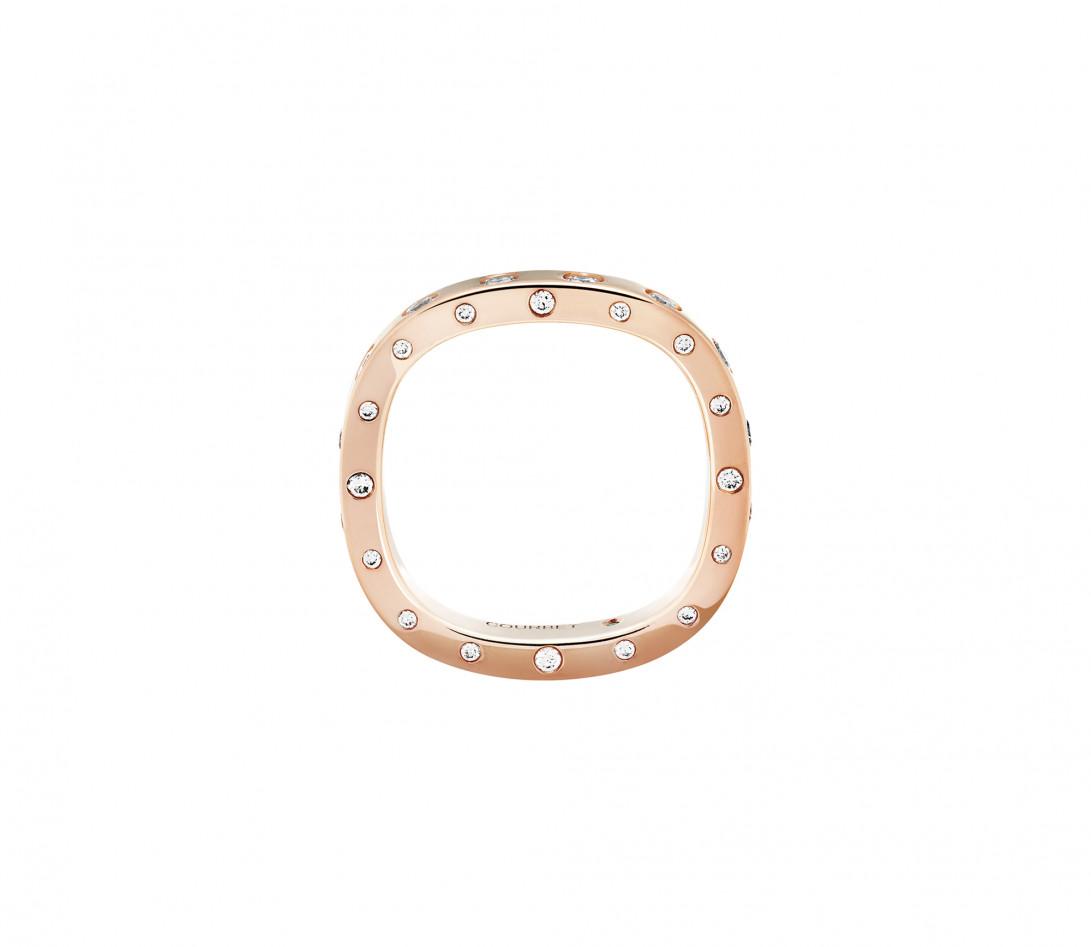 Bague Or Rose et Diamants de synthèse 0,67 ct - Eclipse - Vue 2