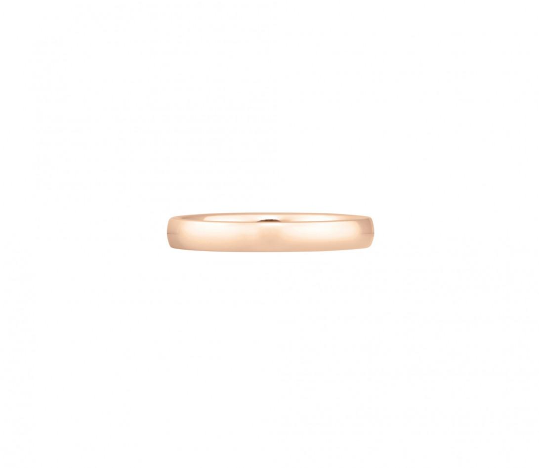 Alliance (3 mm) - Or rose 18K (4,20 g) - Face