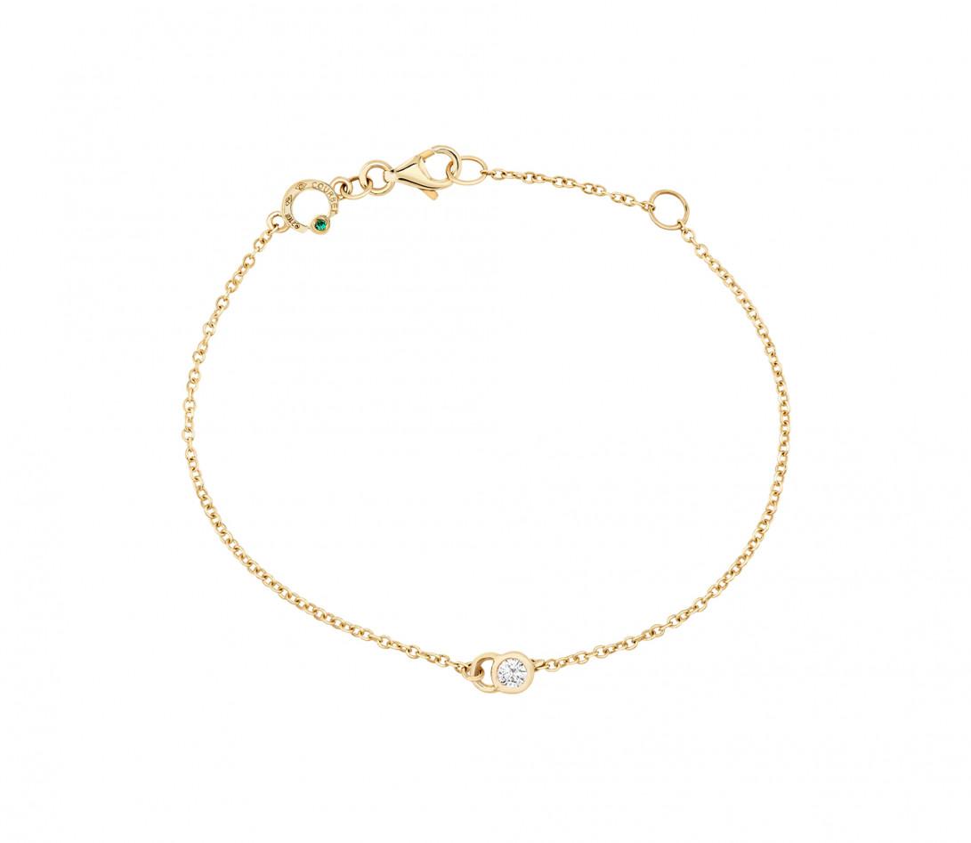 Bracelet CO - Or Jaune 18K, diamants synthétiques - Vue 1