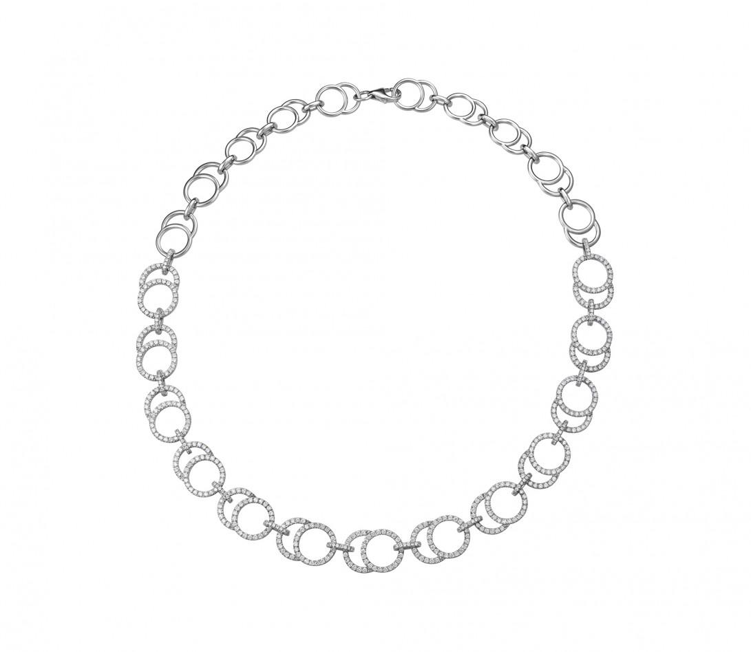 Collier Or Blanc et Diamants de synthèse 5,26 cts  - Celeste - Courbet - Vue 1