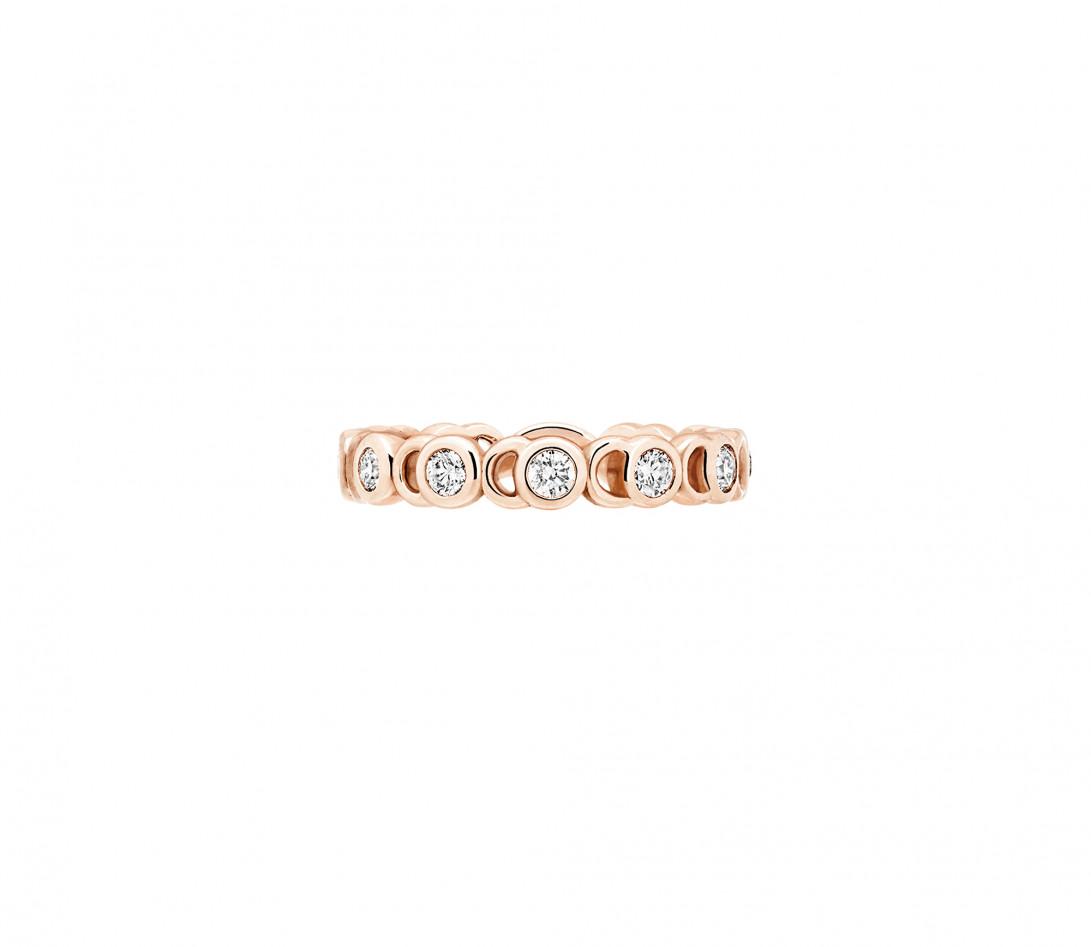 Bague Or rose et Diamants de synthèse 0,55 ct - CO - Courbet - Vue 1